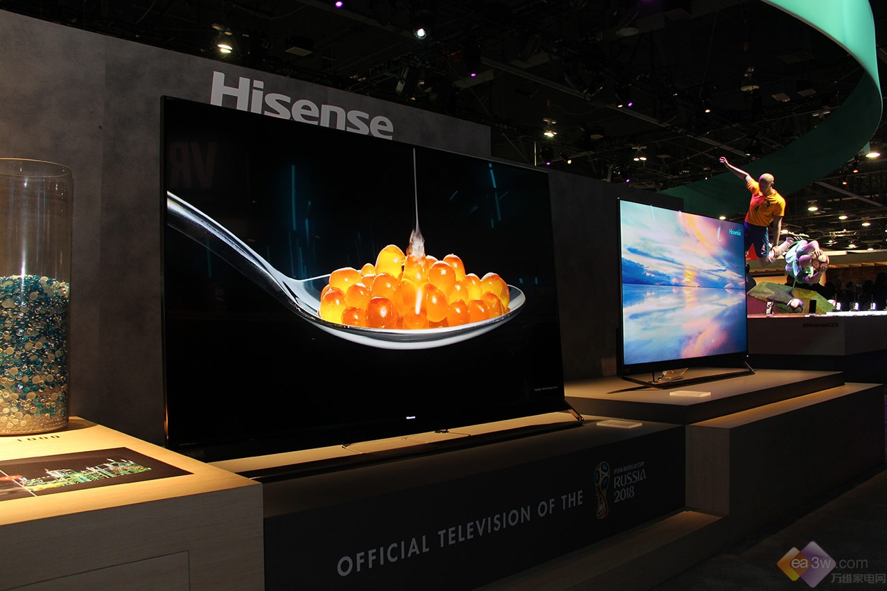 全球首款1000 Zone超画质电视海信U9亮相CES,为世界杯打造
