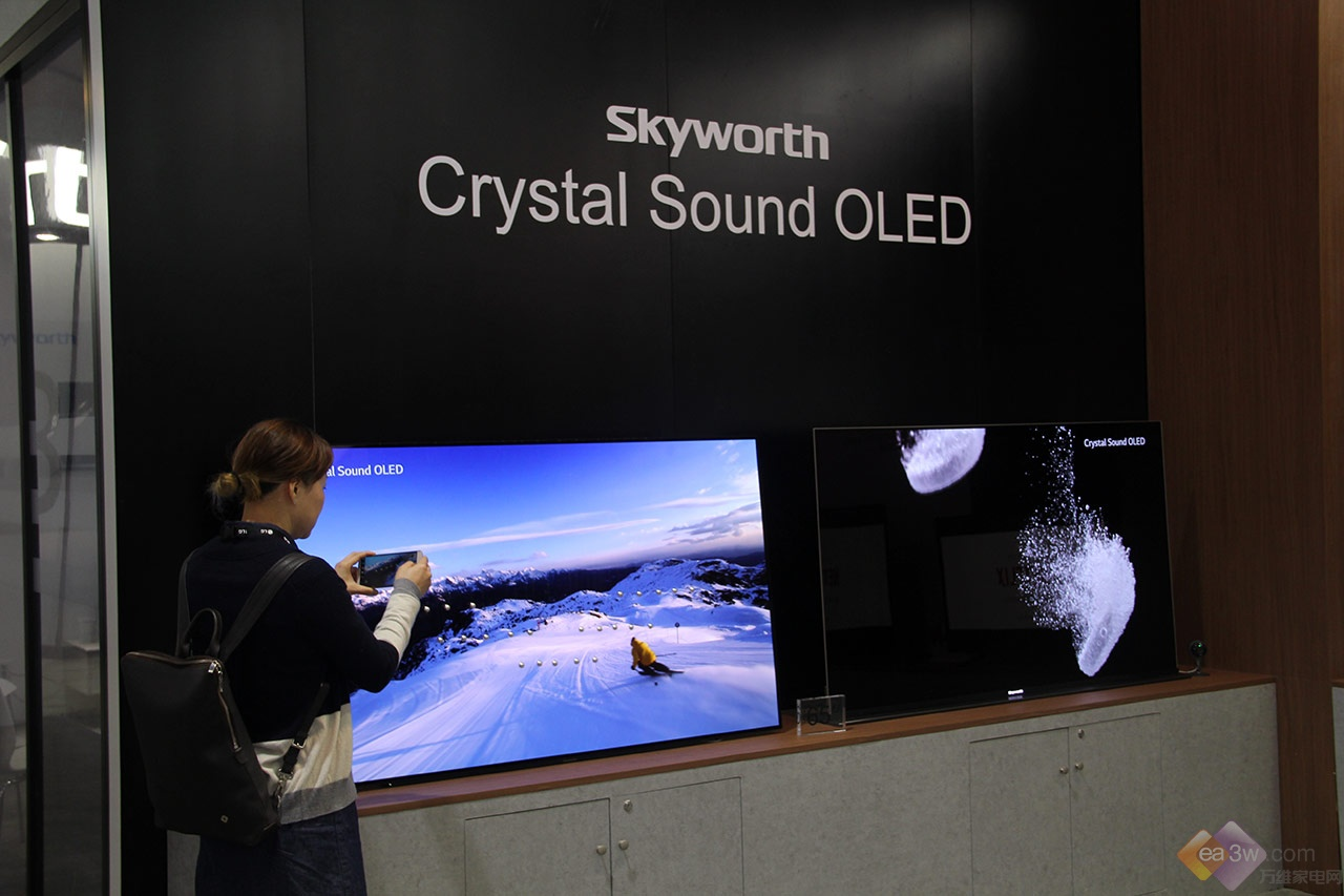 创维OLED惊艳亮相CES2018,自主核心科技引领世界潮流