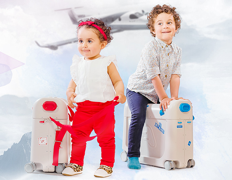 创意产品!让座椅秒变睡床的儿童行李箱你见过?