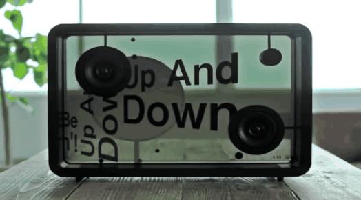 不仅透明还能显示歌词,这款智能音箱让人眼前一亮