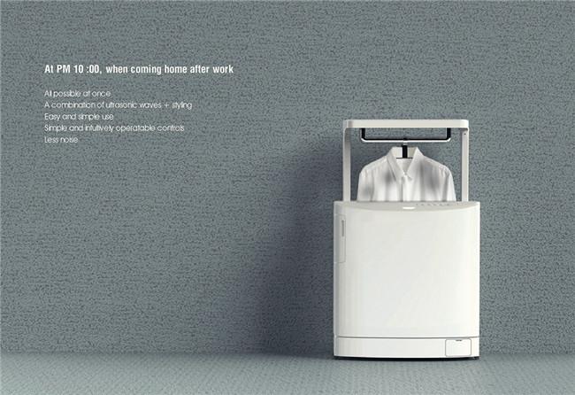 烤面包机似的洗衣机,让租住在外的你洗衣不用愁