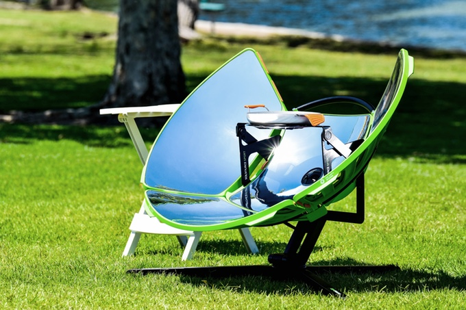 众筹也疯狂!户外野营神器,便携式太阳能灶