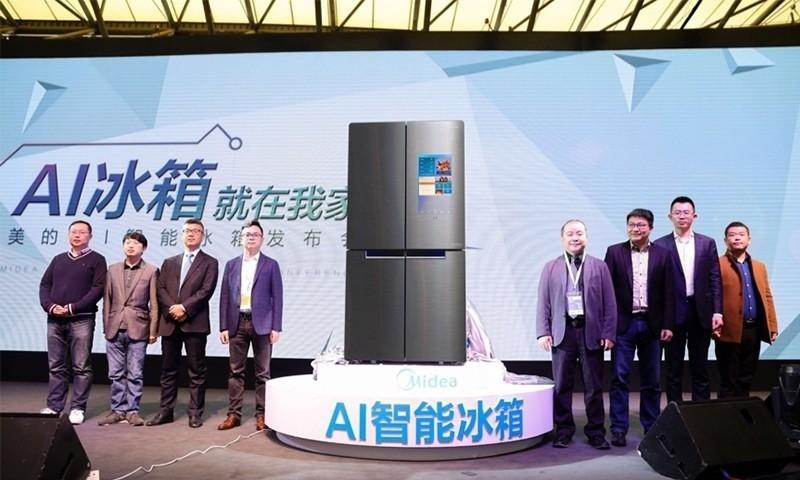 智取AWE,美的ALLINSIDE AI智能冰箱BCD-750WGPZV全球首发