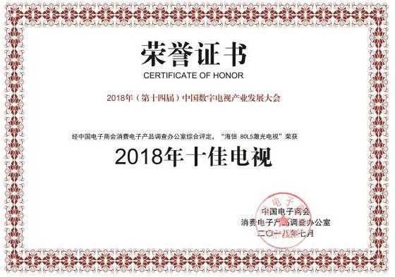 行业趋势 海信激光电视80L5领跑彩电畅销榜!