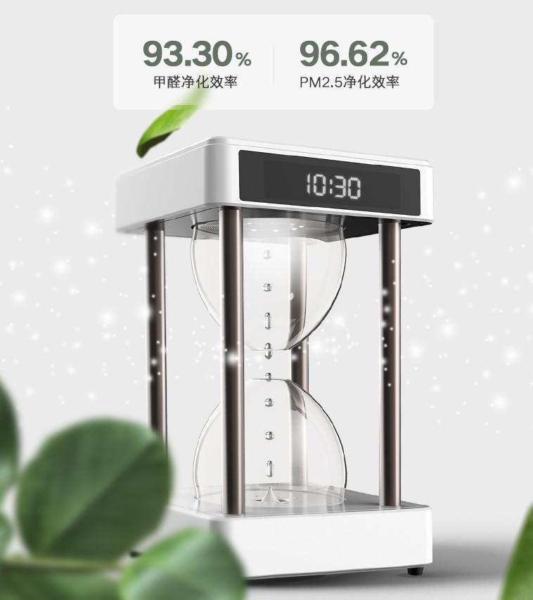 创意酷品:反引力时光沙漏空气净化器了解一下