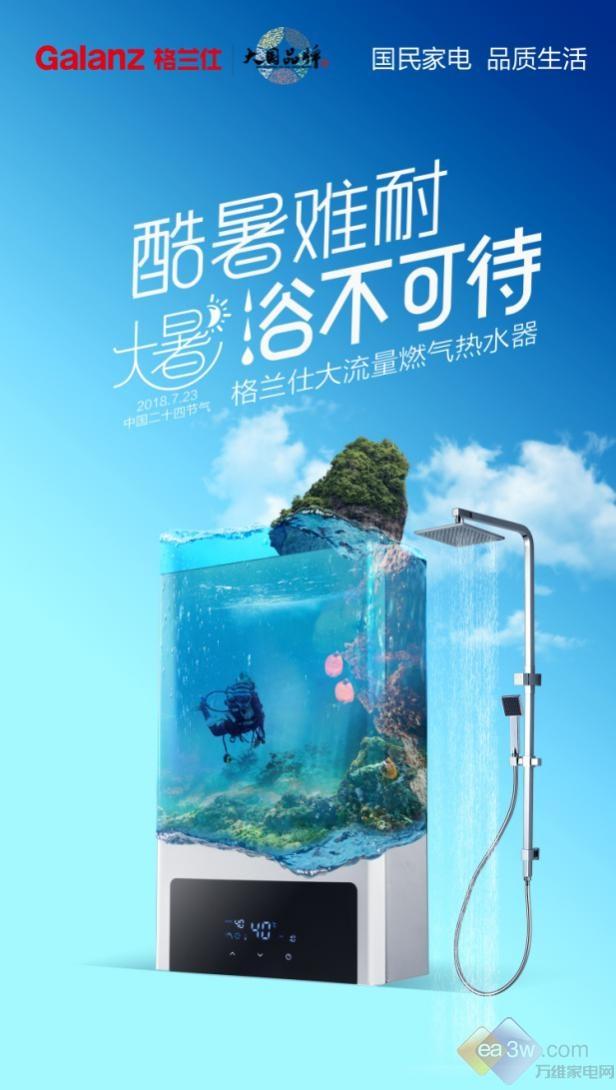 智能AI芯片精准控温,格兰仕面向中国市场推出恒温热水器