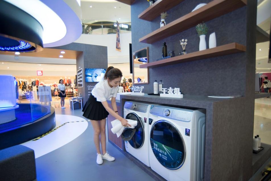 玩转水流艺术,三星洗衣机掀开全国干净行动