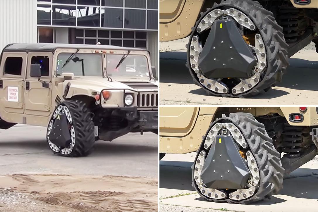 三角形具有稳定性,可你见过能变三角形履带的车轮吗?