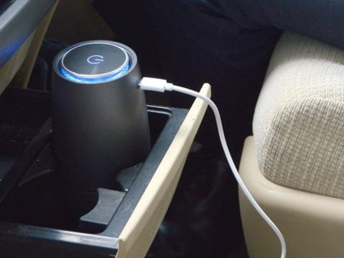 what?这不是易拉罐,是车载USB空气净化器?