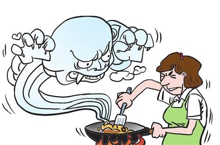 天天出门戴口罩的你是否知道,厨房油烟危害比雾霾还要大!
