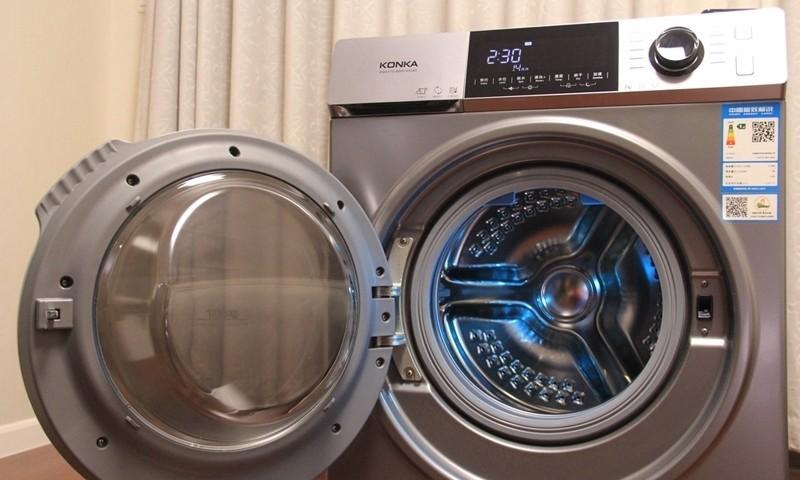 康佳高端玉玺系列洗烘一体洗衣机高清图赏