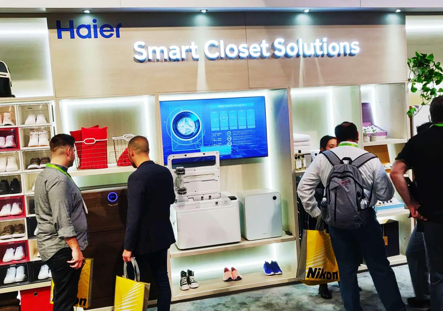海尔衣联网CES展示全套解决方案∶从衣物到鞋靴