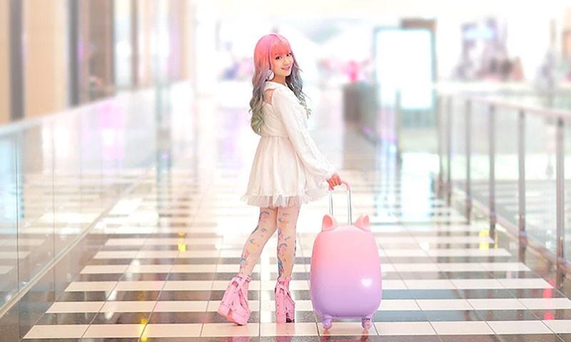 这款仙气满满的行李箱,不是小仙女Hold不住它哦