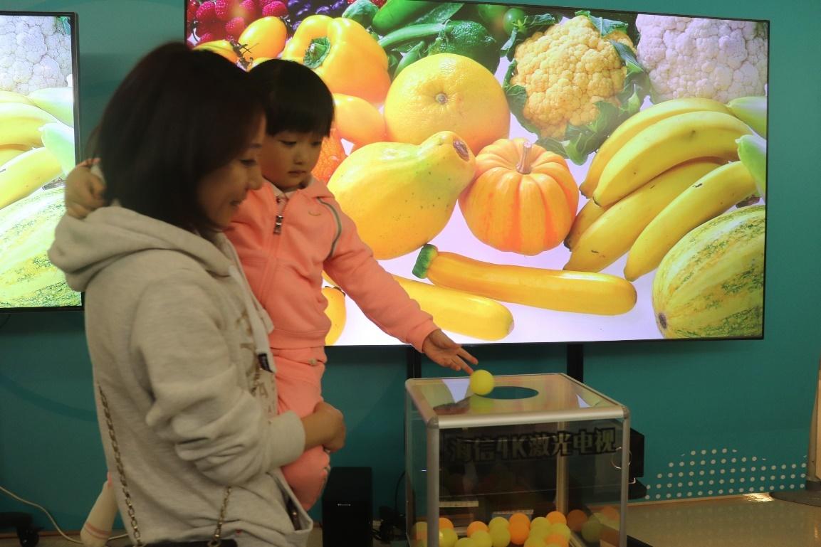 护眼电视现场众测 100位妈妈高票选出海信激光电视