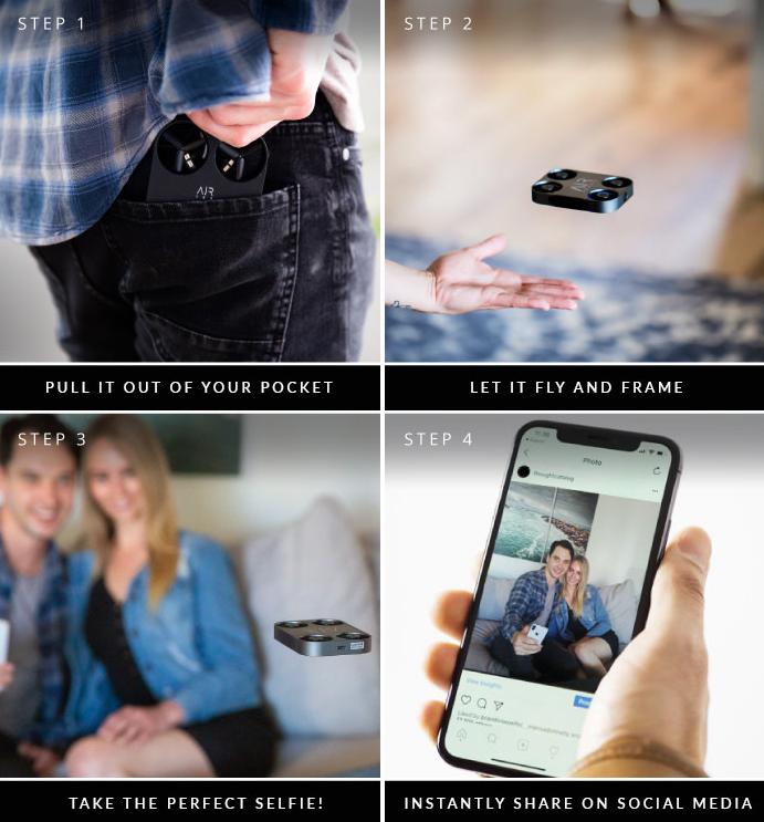 创意酷品:解锁你的新拍照姿势,这款袖珍空中摄影机值得了解一下!