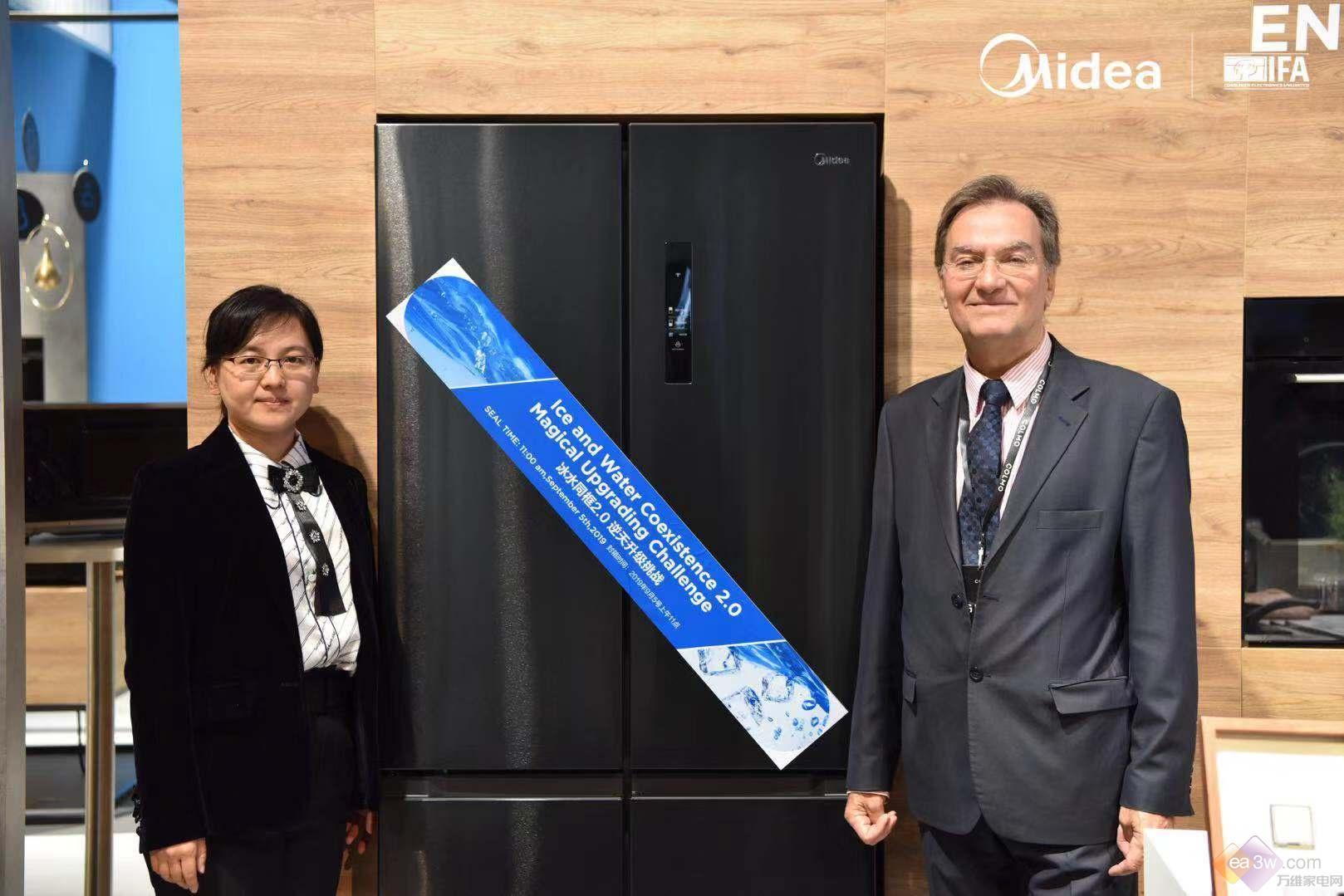 2019IFA,美的冰箱再现冰水同框2.0逆天挑战,震撼全场
