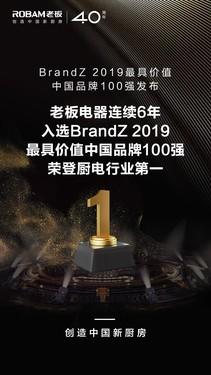 老板电器14度登榜《亚洲品牌500强》,向全球高端厨电第一品牌迈进