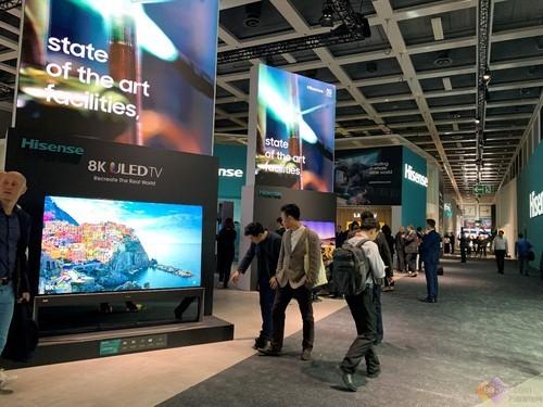海信8K叠屏和屏幕发声激光电视重磅亮相IFA 2019