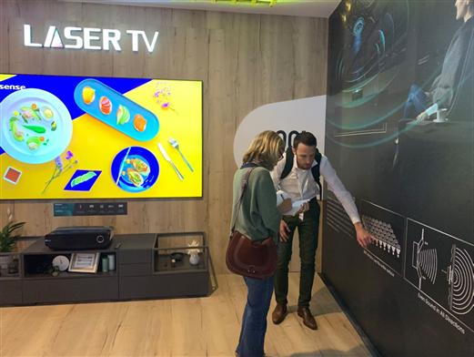技术新突破!海信IFA发布屏幕发声激光电视