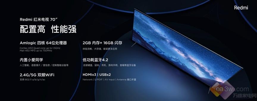 同样的钱买更大的!Redmi红米电视首度开售,15分钟破万台!