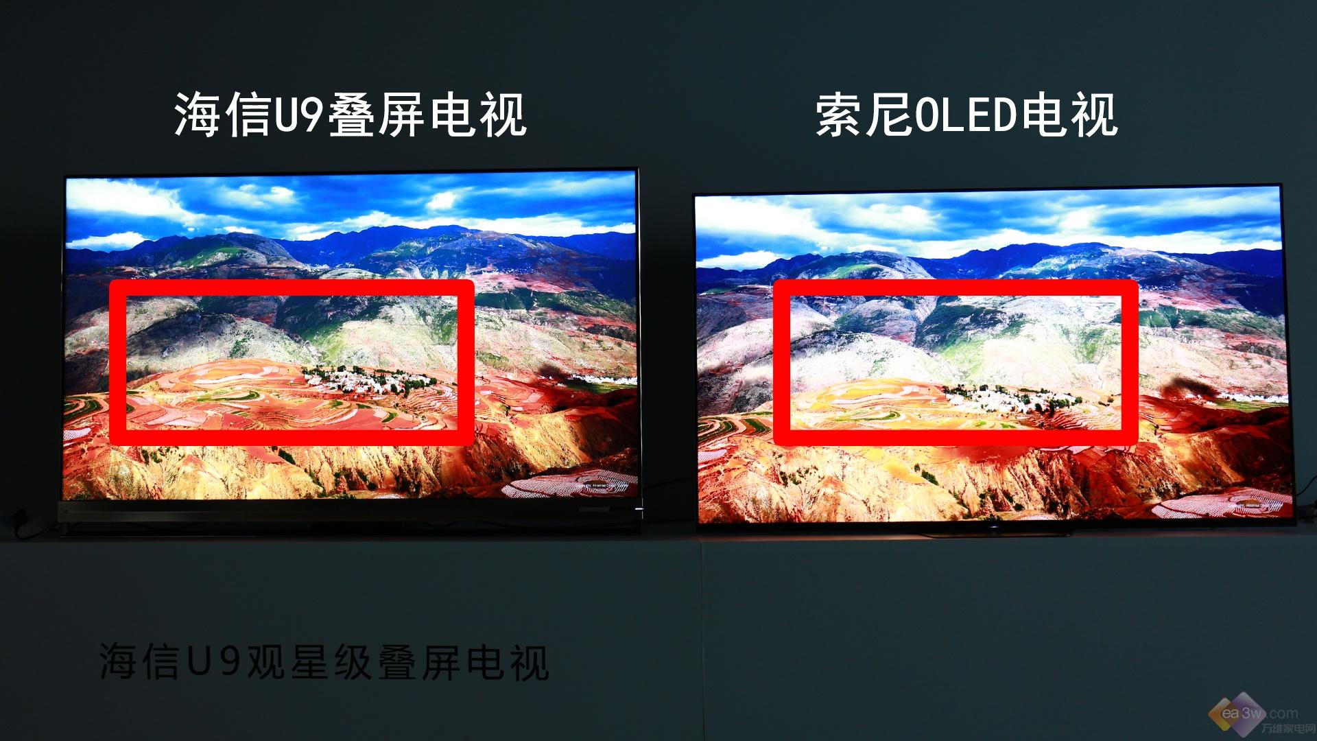 海信U9叠屏电视VS索尼OLED电视,谁才是画质之王?