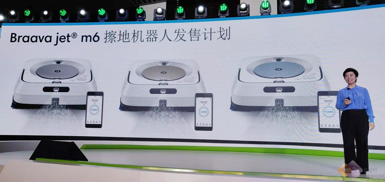 iRobot发布Braava jet m6擦地机器人,可实现与扫地机双机联动