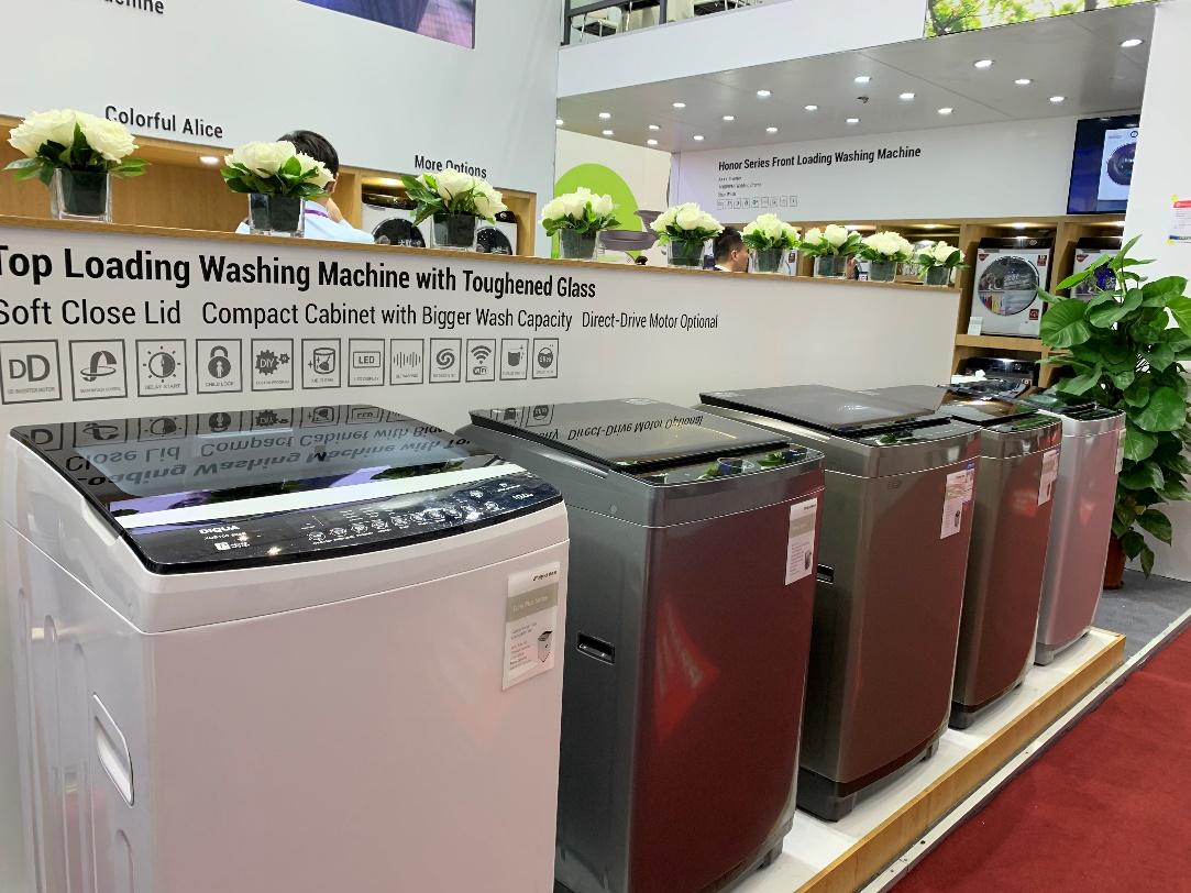 惠而浦明星洗衣机系列亮相2019秋季广交会 科研创新百年积淀,健康洁净一键开启