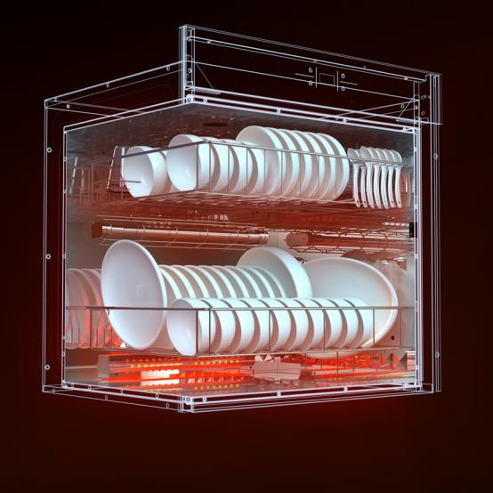 老板消毒柜XB701A的自我修养:强效杀菌+无菌储存,才是科学的储碗