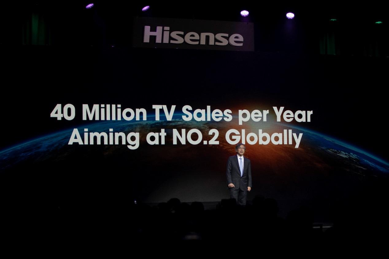 海信CES公布小目标:电视出货4000万台跻身全球前二