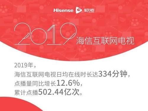 海信发布2019互联网电视白皮书:大屏日均在线时长已接近手机