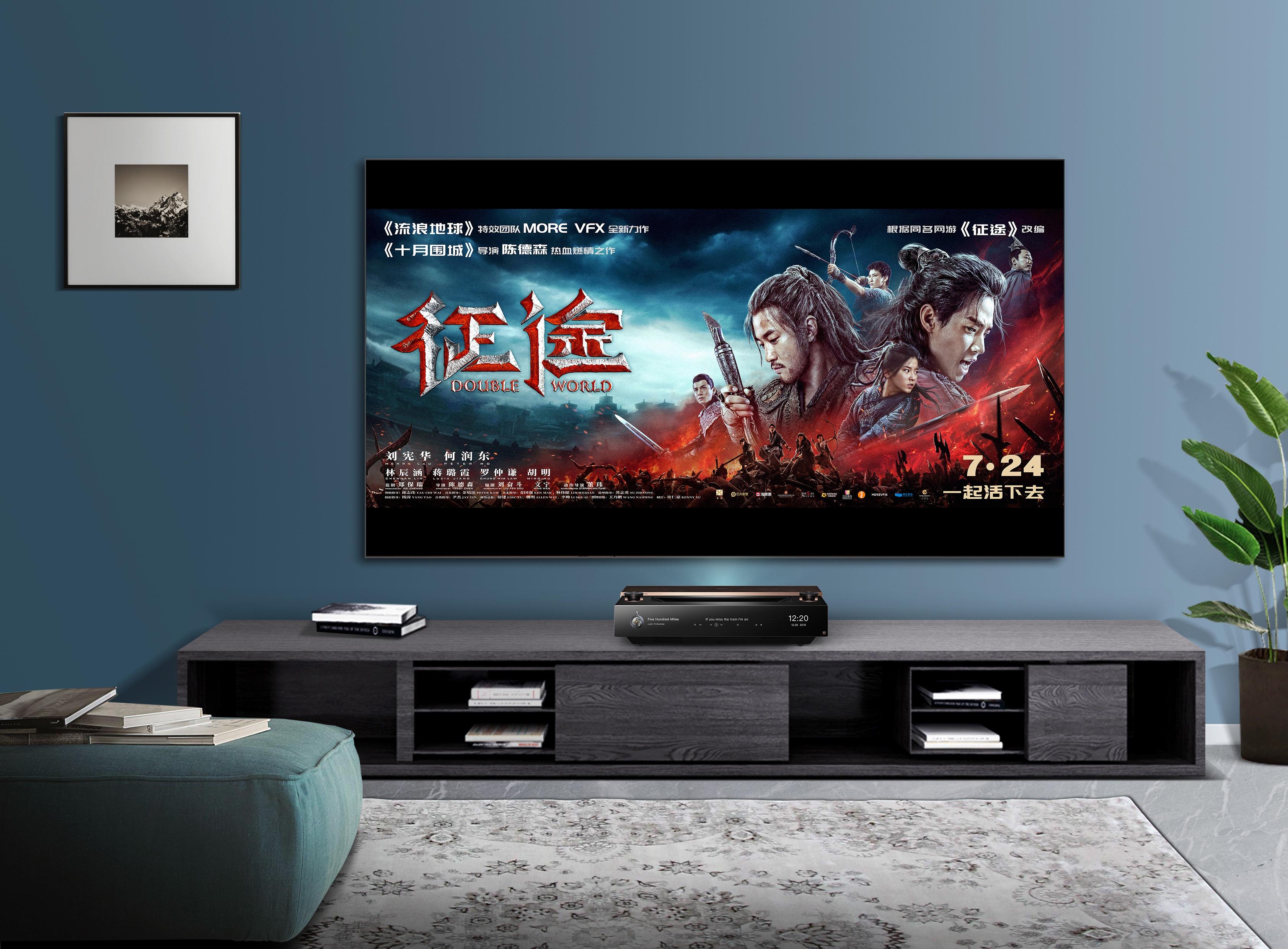 海信发布100英寸影院级全色激光电视,在家看电影的时代来了!