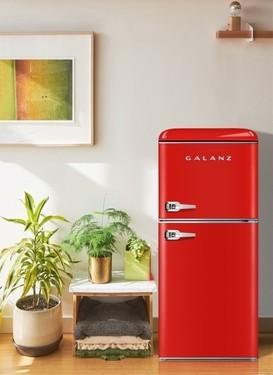 颜值爆表的格兰仕复古双门冰箱,满足年轻人对