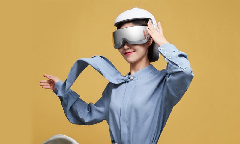 创酷品:摩摩哒智能按摩头盔,头眼颈三合一按摩给你前所未有的舒适体验