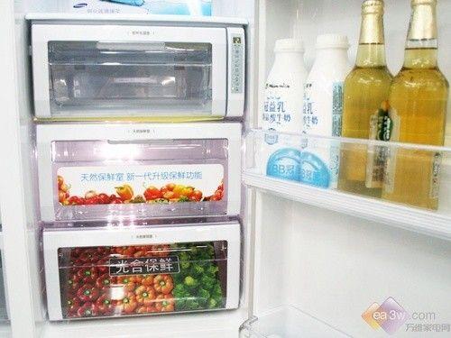 三星新品对门冰箱 馨韵花纹大中热卖