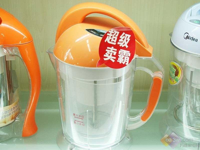 格兰仕豆浆机dp13001c外观设计可爱,童趣十足,采用橘黄色的机体颜色