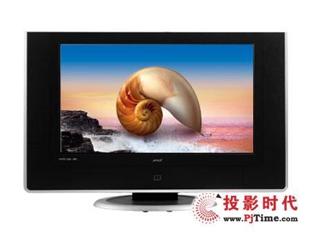 液晶电视采用工程塑料材质面板,黑灰的基色机身配有银色的外边框.