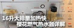 16升大排量加热快 樱花燃气热水器详解