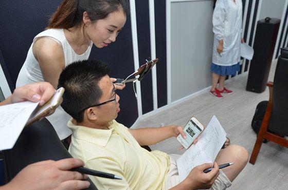 参观者参与主观评测