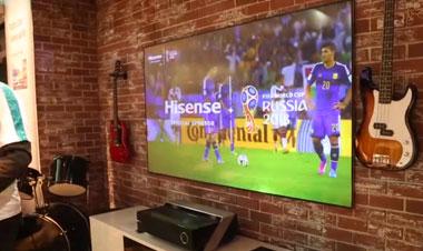 CES 2018视频直击 海信激光电视+ULED组合