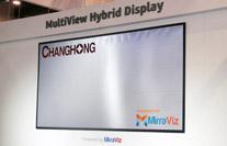 长虹CES黑科技,一张屏幕竟然可以看到三个画面