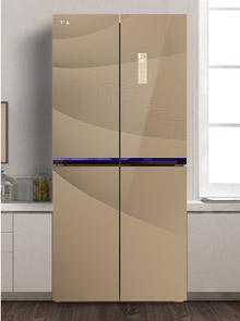 <span>TCL宽薄十字对开门冰箱<br/> 风冷无霜 电脑温控 大容量 满足一家所需<em>售价:4099</em></span>