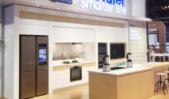 海尔馨厨冰箱CES展动态食材识别科技