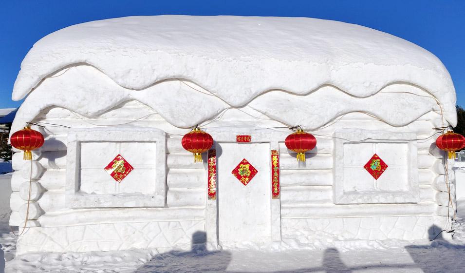 漠河的雪屋