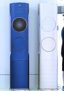 美的无风感柜式新品空调,搭载源自航空涡轮对旋技术