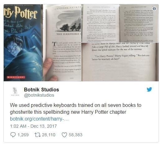 科技早闻:《哈利波特》又更新了,作者竟是AI